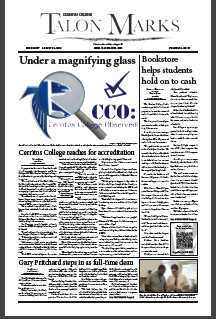 The news section -- page 1 of the August 28, 2013 issue of Talon Marks.