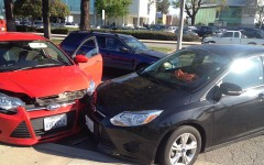 Three car collision on Alondra Boulevard