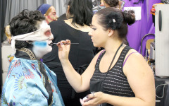 Behind-the-make-up tour for theatre class provided by Knott's