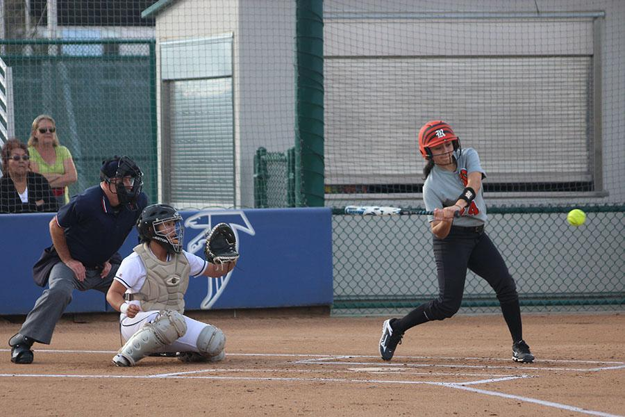 Grand slam win for Falcons softball