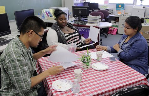 Students identify their own skills at Career Cafe