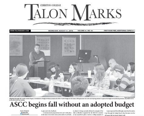Talon Marks: Aug. 31, 2016 Volume 61, Issue 02