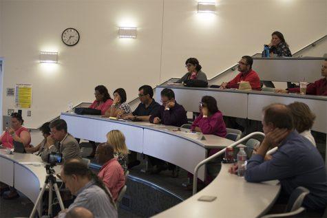 Forum showcases trustee hopefuls battling to get union endorsement