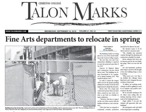 Talon Marks: Sept. 14, 2016 Volume 61, Issue 03