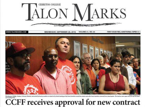 Talon Marks: Sept. 28, 2016 Volume 61, Issue 05