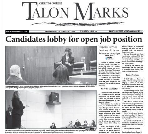 Talon Marks: Oct. 26, 2016 Volume 61, Issue 08