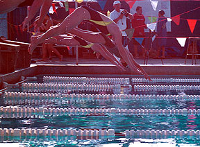 Falcons split meet in pool