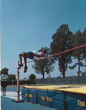Cerritos´ James Perkins won the high jump event with a mark of 6´ 6