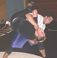 ALLEY OOP - Vince Leachman takes down Juan Revuelta in practice