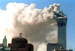 Terrorists hijack, crash planes