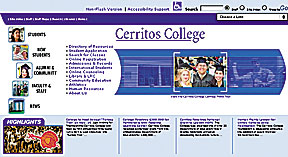 College redesigns website
