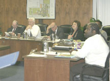 Board of Trustees meet for a study session at Board Meeting