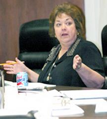 Cheryl Epple Board Member, speaks out at board meeting.
