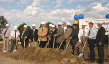 Board members at the new math and science building groundbreaking