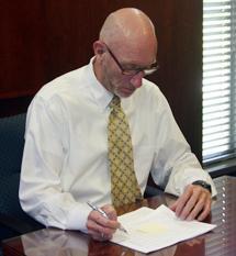 Acting President of Cerritos College Bill Farmer
