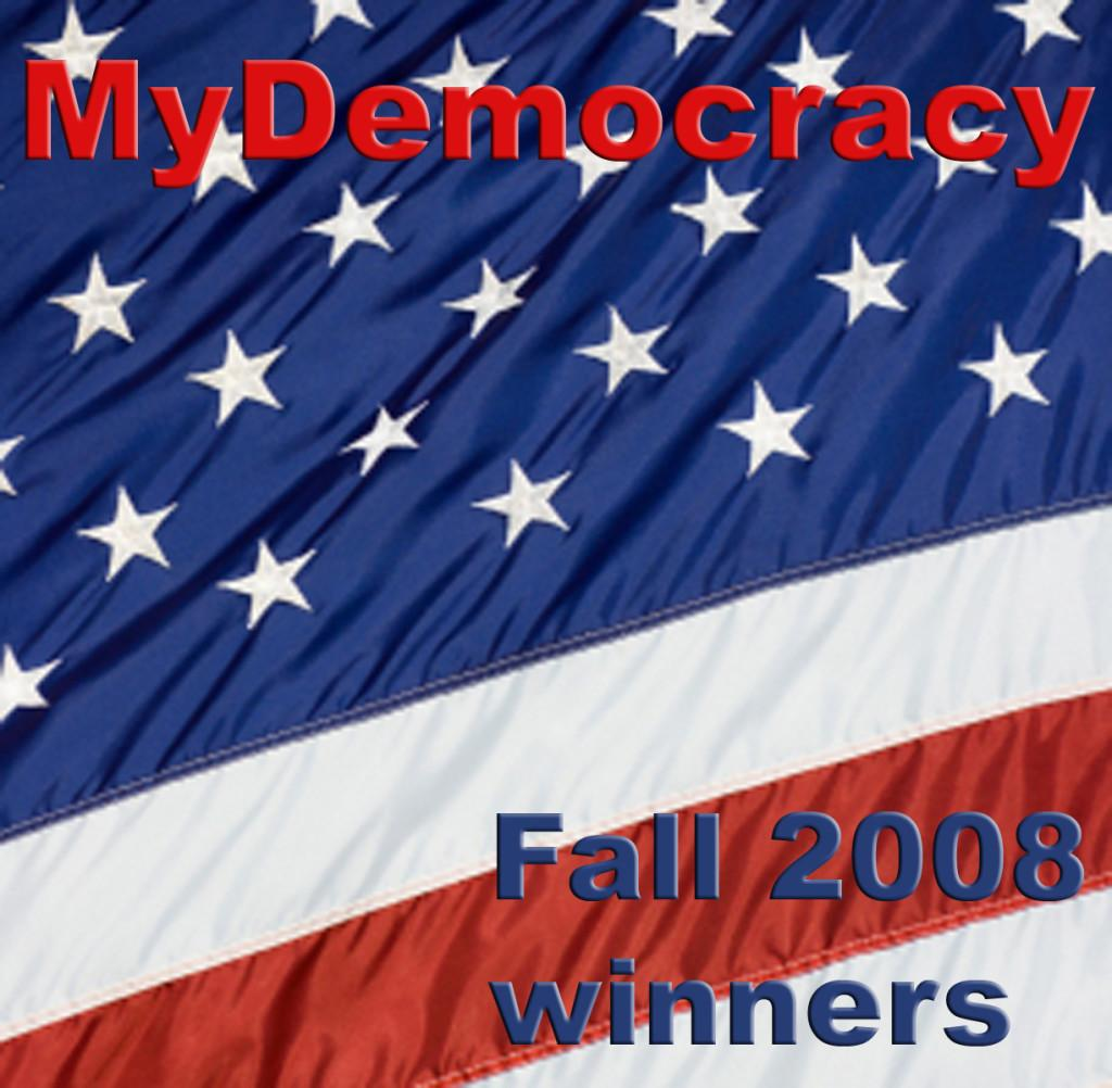 Arcos wins Fall 2008 MyDemocracy contest