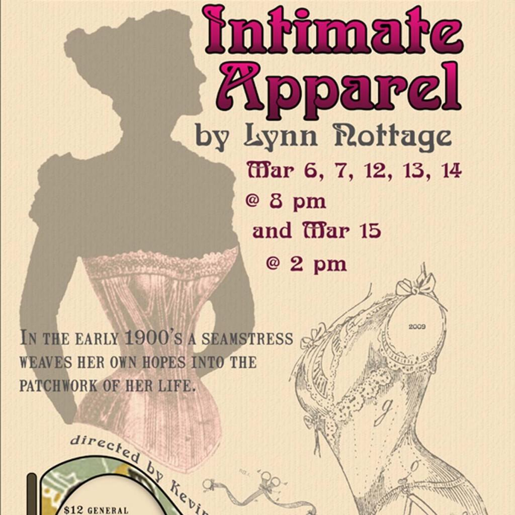 'Intimate Apparel' begins March 6