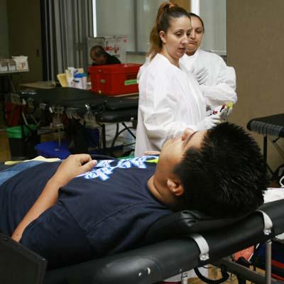Red Cross bleeds students