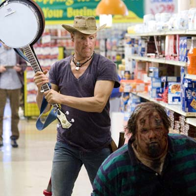Woody Harrelson stars in Columbia Pictures comedy, Zombieland.