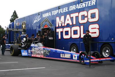 The Matco tools Dragster can reach speeds of 333 m.p.h