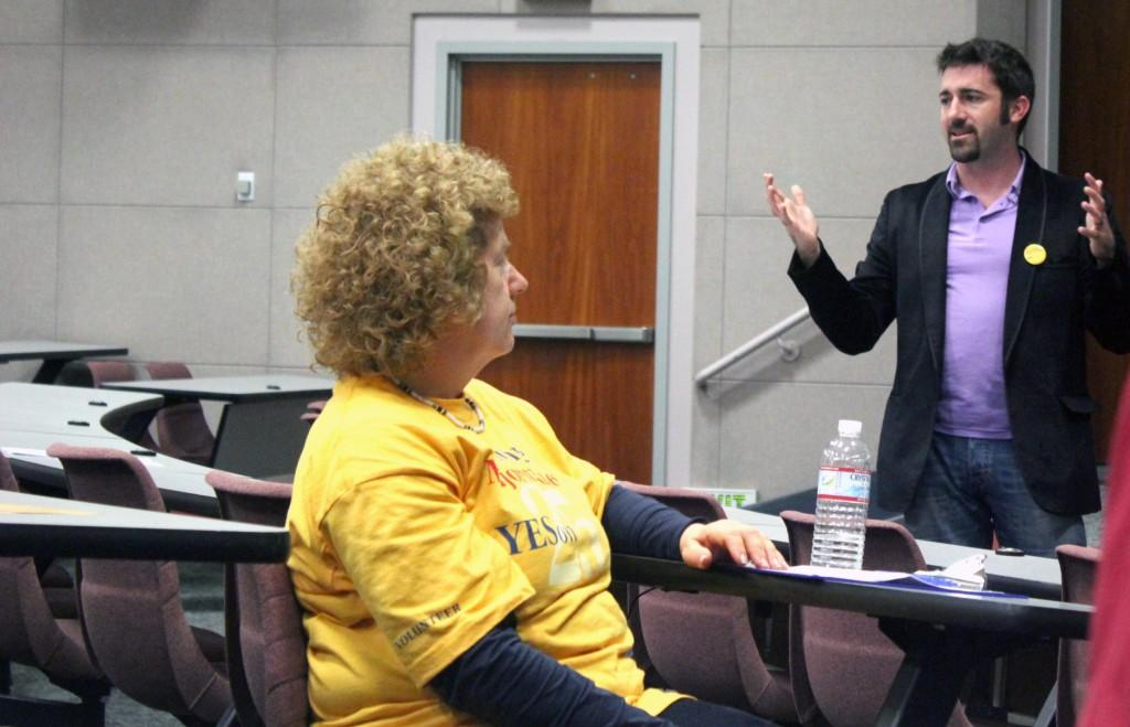 CFT Field Director Jim Araby discussed several election-related issues in his conference on Oct. 5