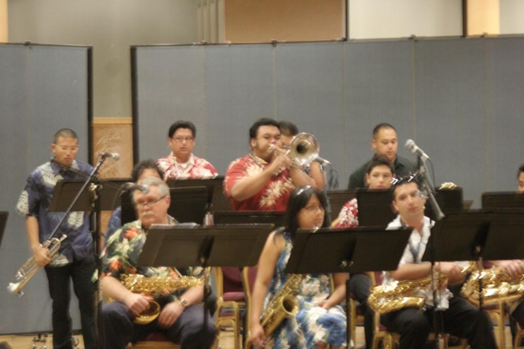 Members of the Cerritos College, Jazz Ensemble performs at its exchange concert on Oct. 6. The Cerritos Music Department held the concert to encourage middle school students to continue playing music once they reach college.