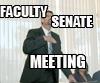 Things calm down at faculty senate meeting