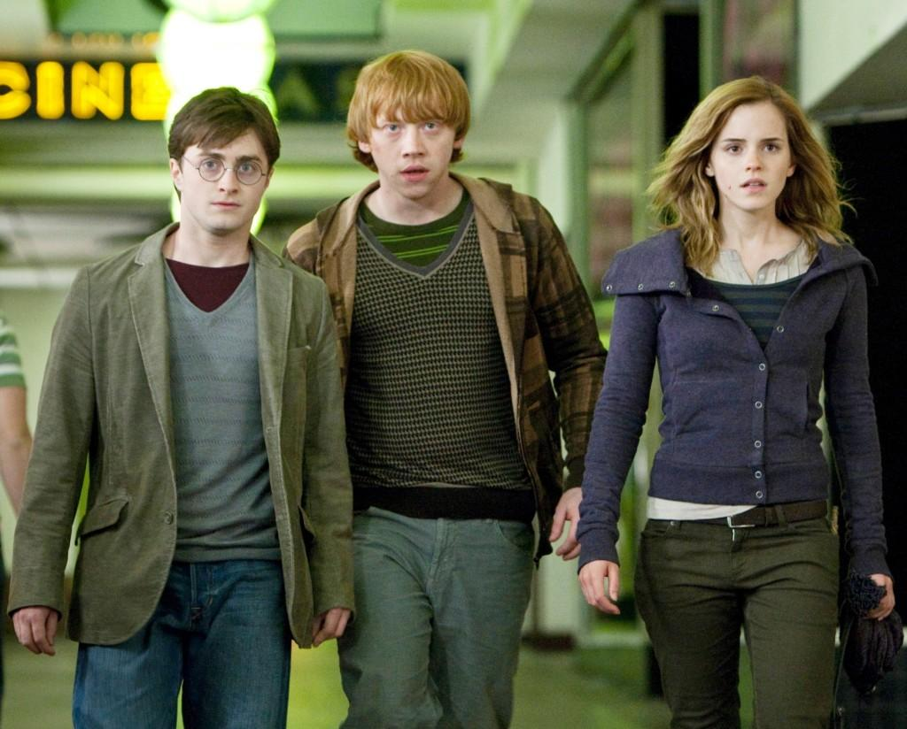 Daniel Radcliffe as Harry Potter, from left, Rupert Grint as Ron Weasley and Emma Watson as Hermione Granger star in Warner Bros. Pictures' fantasy adventure,