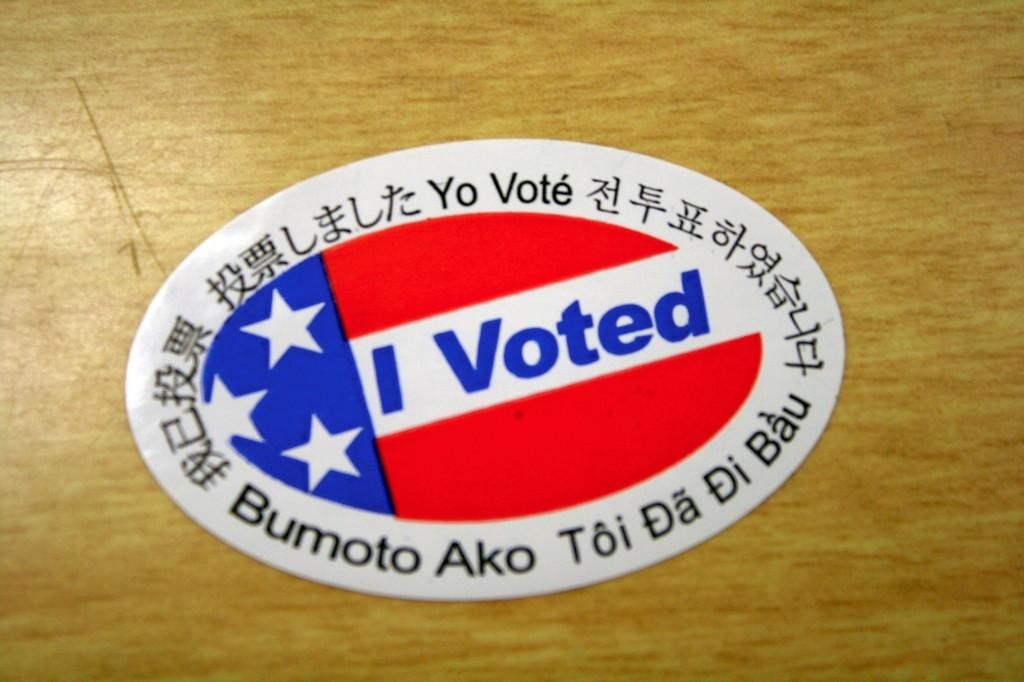 Many students did not take part in the Nov.2 elections. Those who did vote received this sticker.
