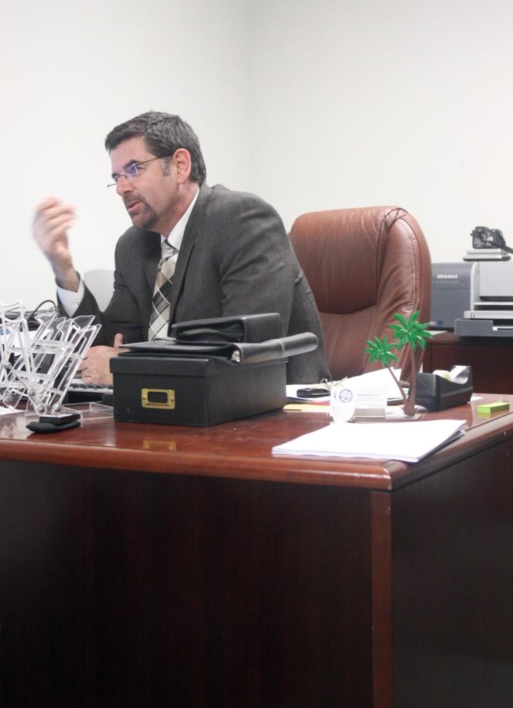 Bryan Reece takes on his new position during the spring semester.