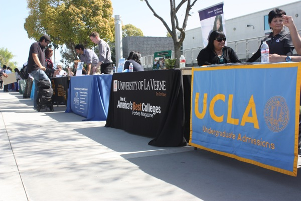 Universities came out to Cerritos Campus to inform students about their school.