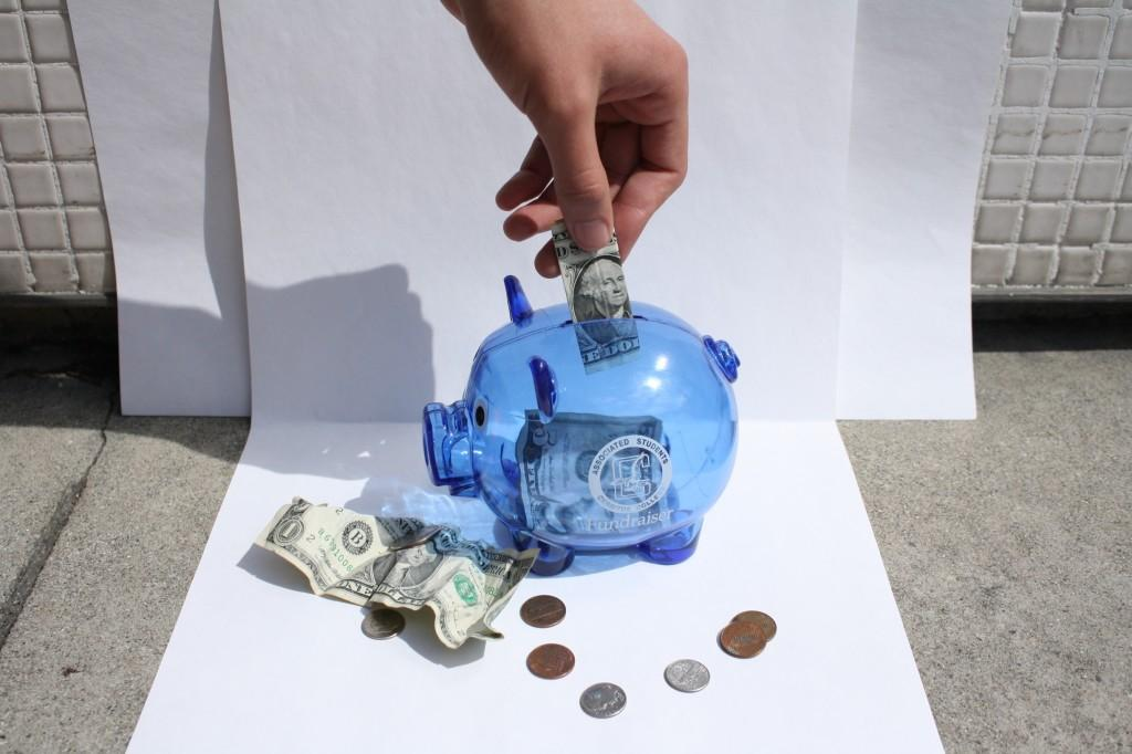 Students and faculty alike can make contributions to the Japan relief effort. The ASCC is checking these blue piggy banks to students and clubs who are interested in raising money.