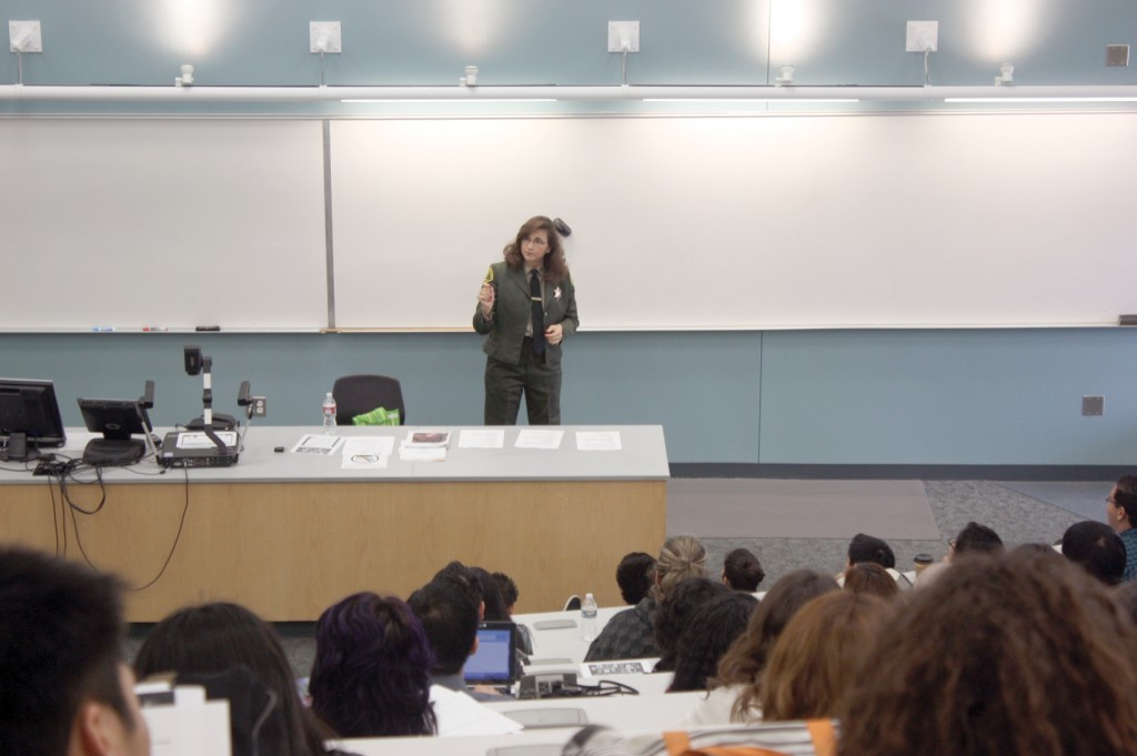 Former police officer visits Cerritos for Women's History Month