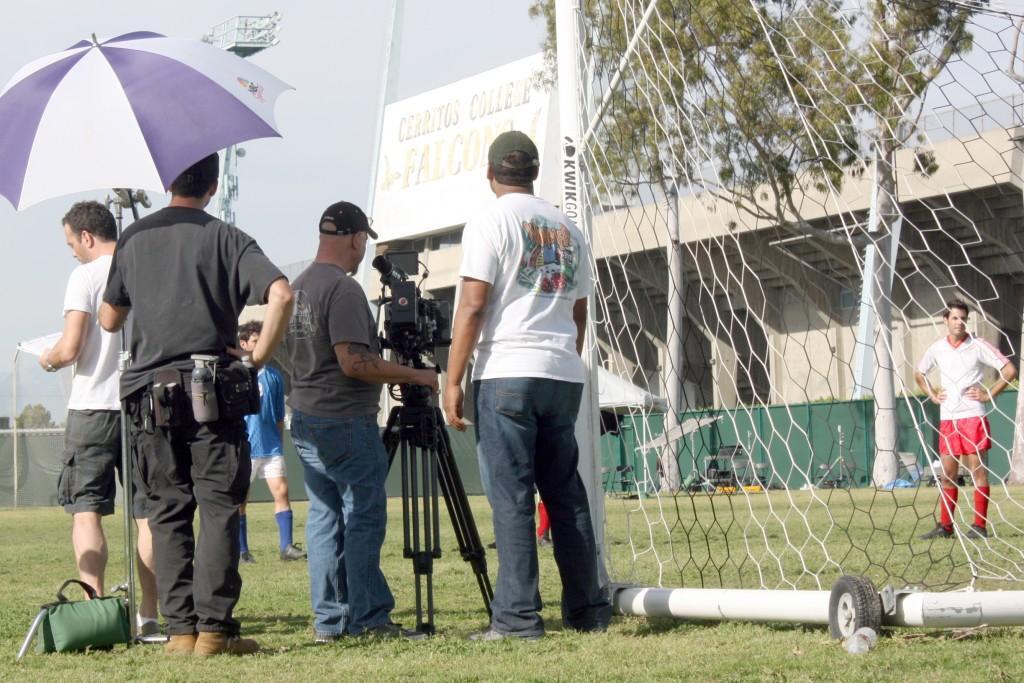American Crew films at Cerritos College