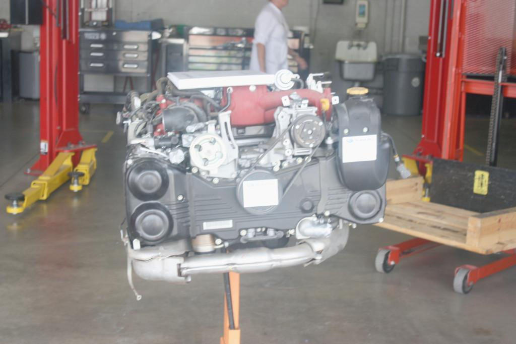 The Subaru car company donated a former Fast and Furious engine was donated to the Cerritos College Automotive Program. The $8500 engine was donated on Aug. 12.