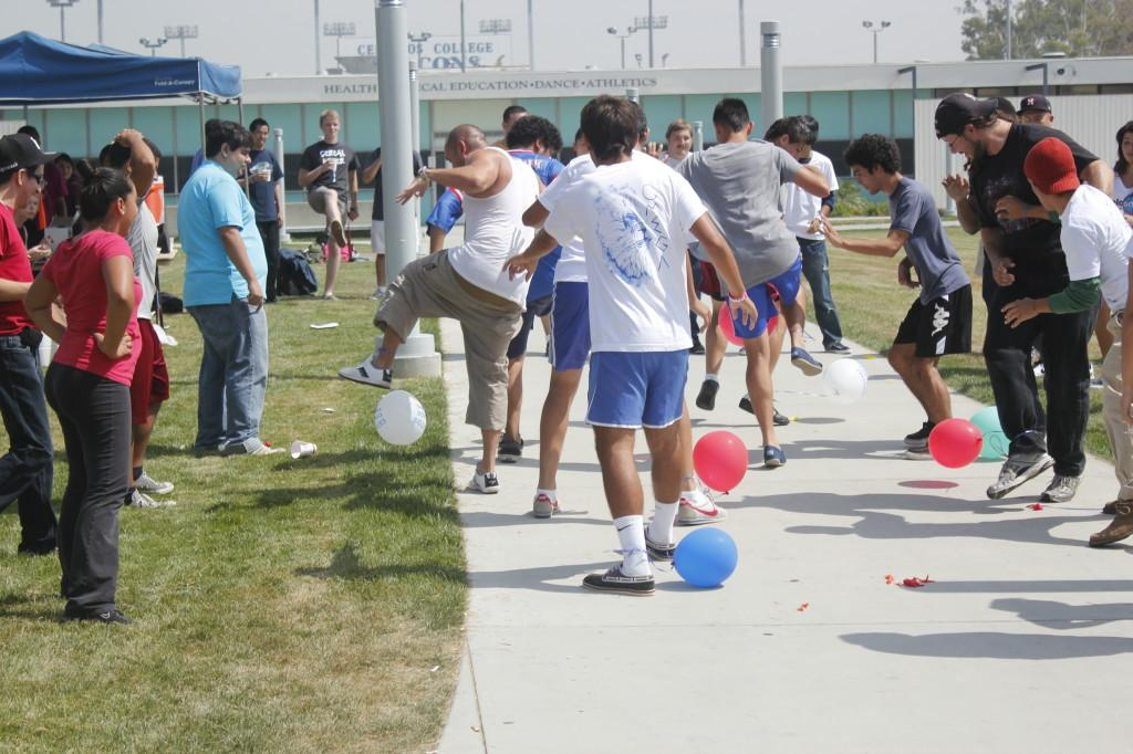Clubs compete in balloon tag:  The final four clubs were playing balloon tag to determine the winner of the first-ever Inter Club Council Tournament on Thursday. The Leo Lion Club would be the winners of the tournament.