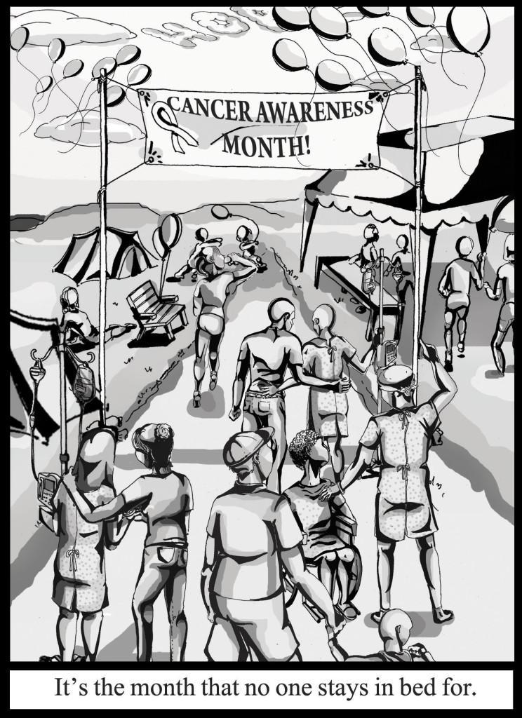 Breast Cancer Awareness editorial cartoon.