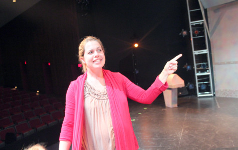 Choreographer Kelly Todd directing her dancers during a rehearsal. Todd choreographed