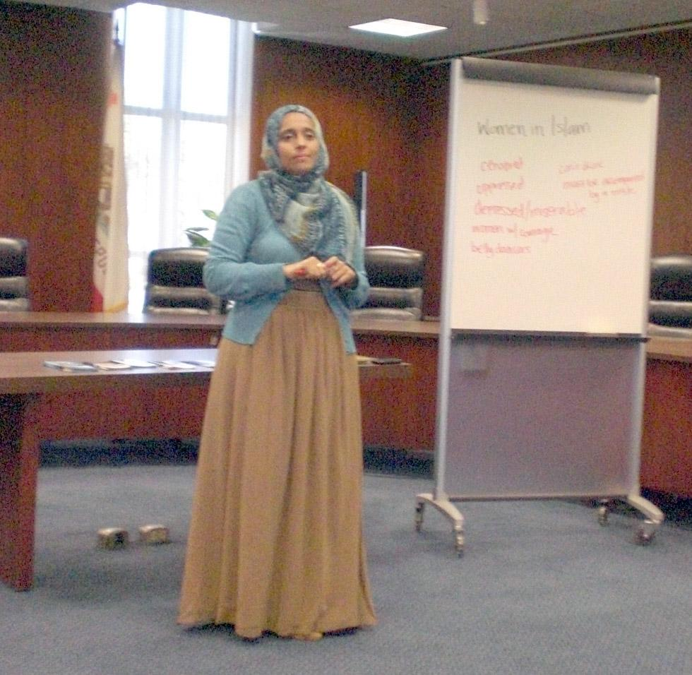 The Muslin Student Associate had a presentation and talked about the rights of muslim women in Islam.