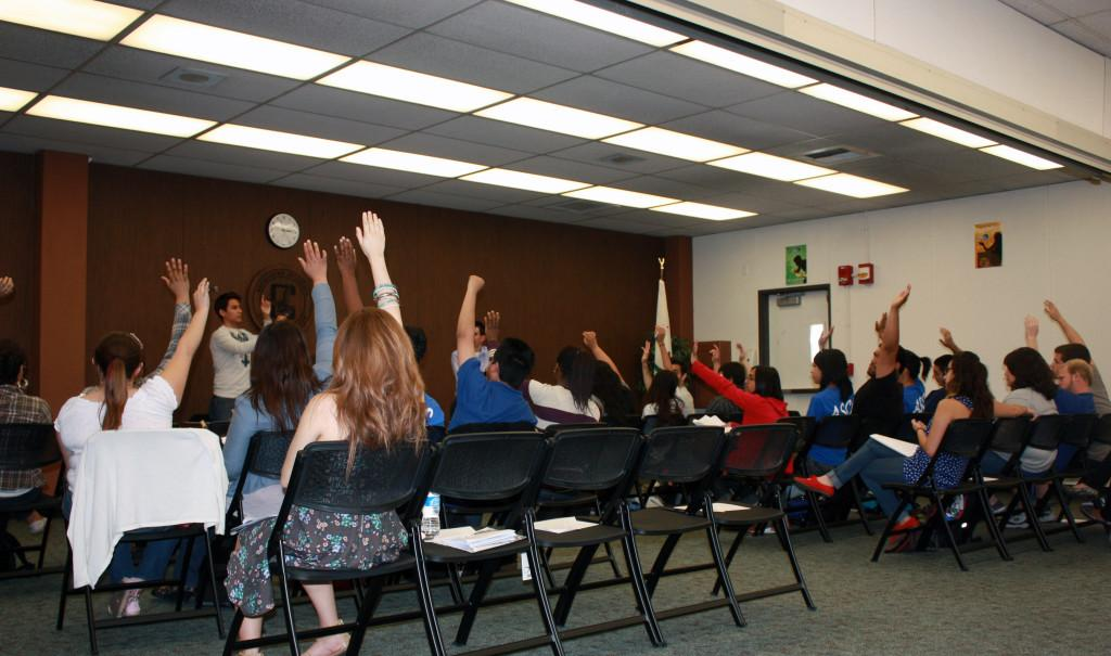 Student senate passed SR11-001, also known as the Vote of No Confidence legislation, with 24 ayes, two nays, and two abstentions. The bill will now be passed over to be reviewed by the Board of Trustees on April 25.