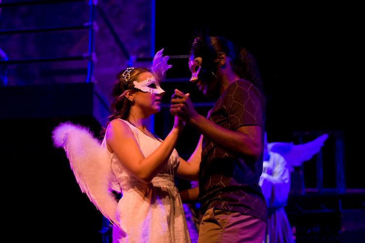 Juliet (Bianca Meiloaica) and her promised fiance Paris (Eric Boone) share a dance.