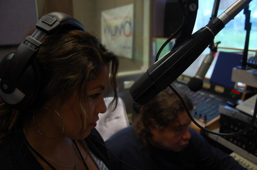 Hosts Lucia Sarabia and Tito Benavides for Talon Mark's 'Campus News Hour' on WPMD.org Cerritos College Radio.