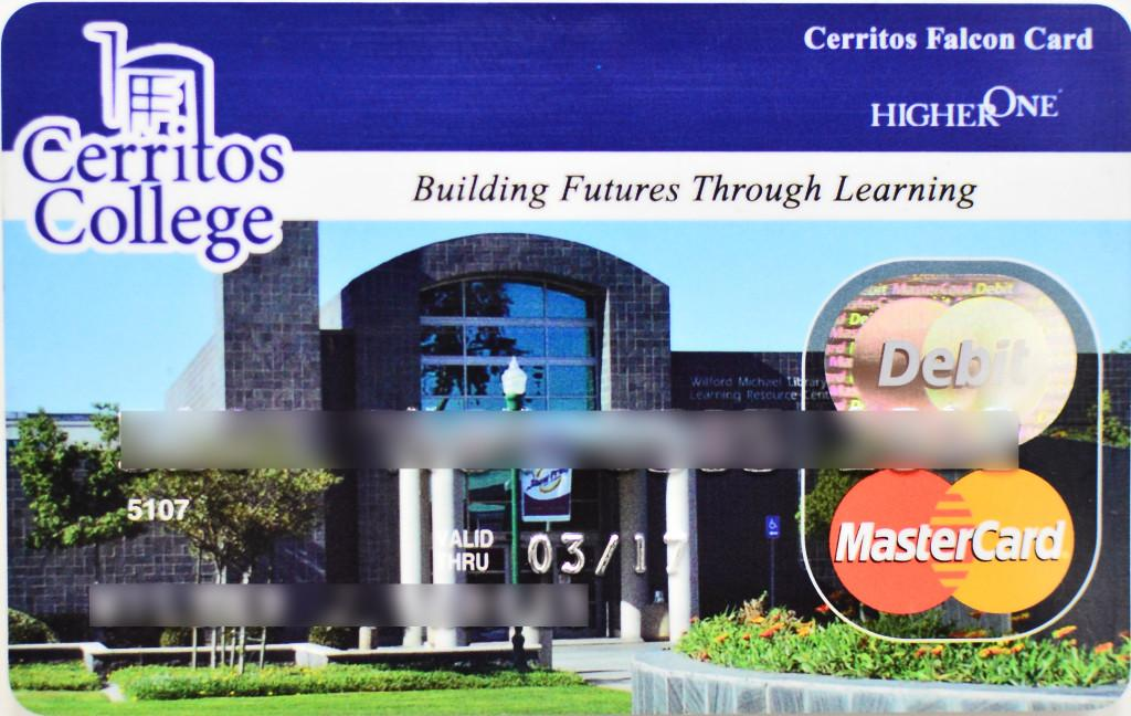 This+is+the+current+Cerritos+College+Falcons+card+from+Higher+One.+The+Falcon+card+is+given+to+students+currently+receiving+financial+aid.