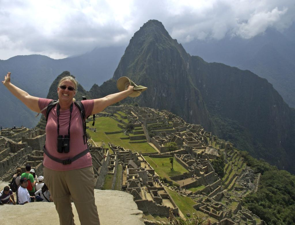 Boardman is photographed in the mountains of Machu Picchu. Boardman is a current Biology teacher at Cerritos College and a council member for the City of Huntington Beach.