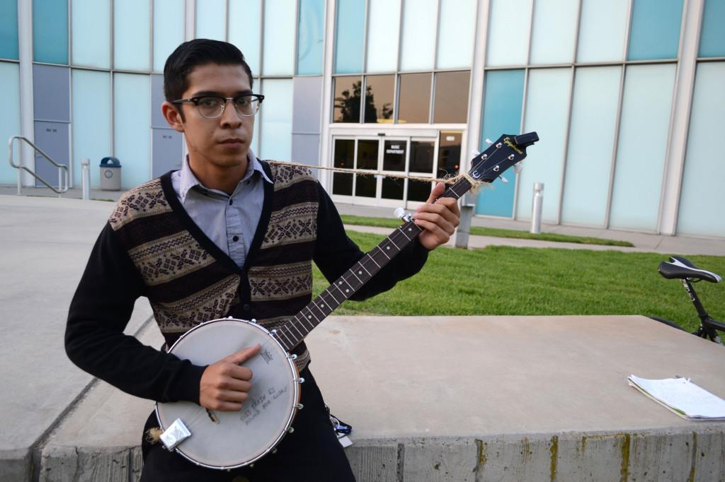 Music performance major Frank Ceballos started playing banjo as a joke, but immediately connected with the instrument. He said the instrument was something that was missing from his life.