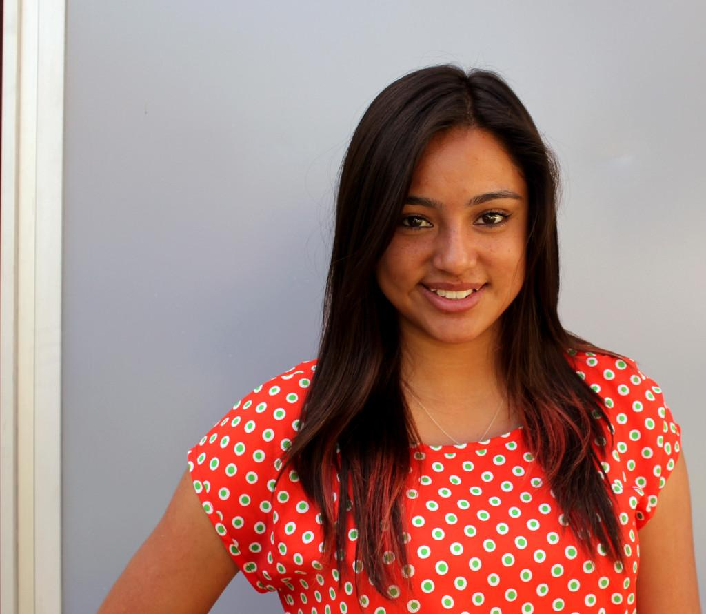 Kenia Avalos who is running for Homecoming Queen for the Broadcasting Club ballot No. 3