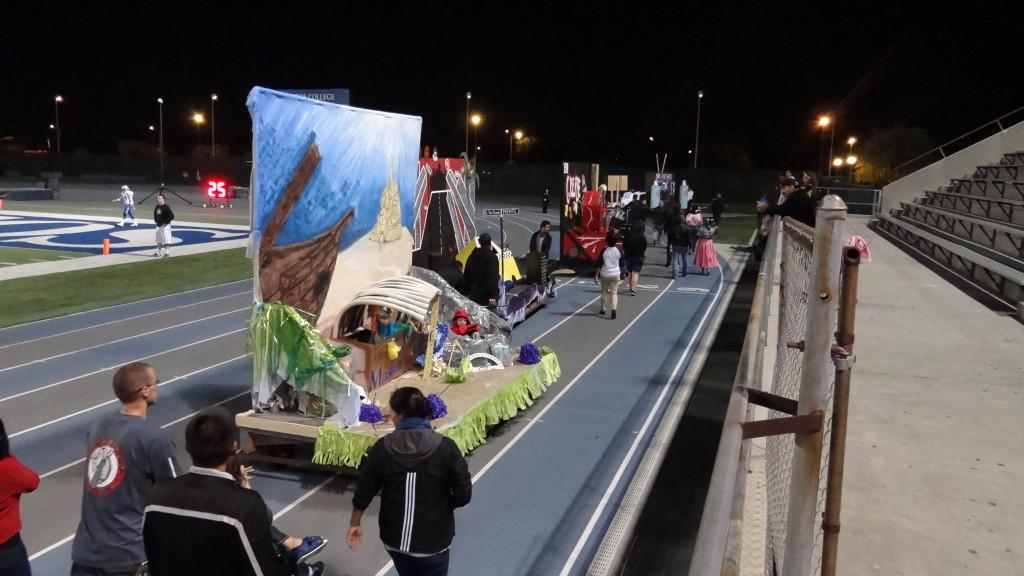 Several floats made their way around the Falcon Stadium track on Saturday. The clubs who participated began thier float building on Oct. 8.