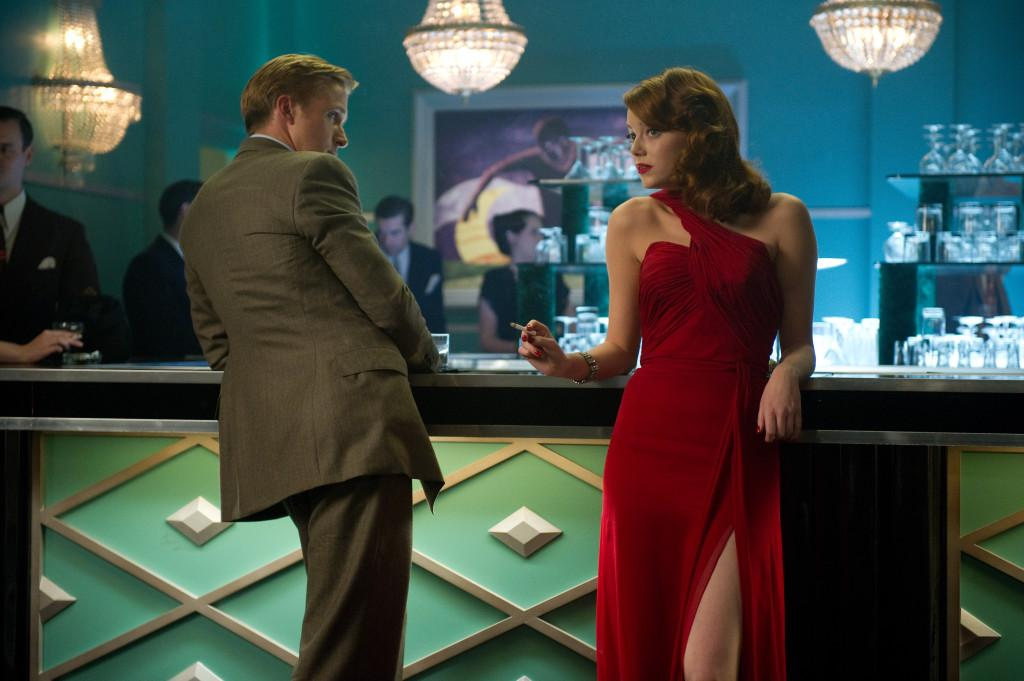 Shooting through: Emma Stone, who plays Grace Faraday, stars opposite Ryan Gosling in the mob themed film Gangster Squad.