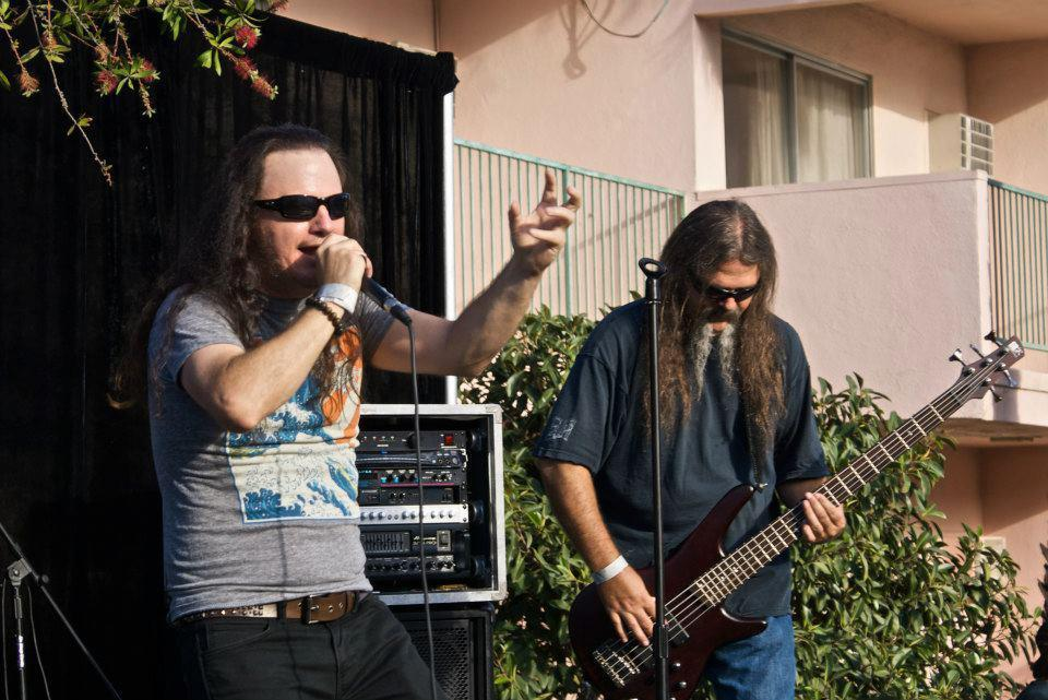 "Rocking Out: Professor Mark Abbruzzese (left) teaches Anthropology here at Cerritos College during the week, but at night rocks out with two of his bands. Abbruzzese's band ""Ghost Electric"" was recently signed with Wright Records."