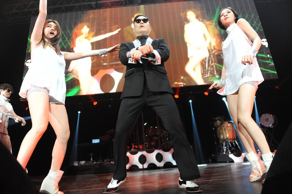 Gangnam Stylin': Psy performs at the Washington DC Jingle Ball concert at the Patriot Center in Fairfax, Virginia on Tuesday, December 11, 2012. (Olivier Douliery/Abaca Press/MCT)